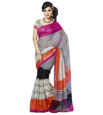 Triveni Entrancing Lining Patterned Bhagalpuri Traditional Saree TSVF10027