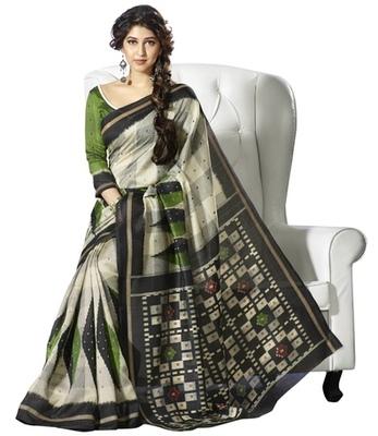 Triveni Classy Geometrical Pattern Bhagalpuri Indian Traditional Saree TSVF10028