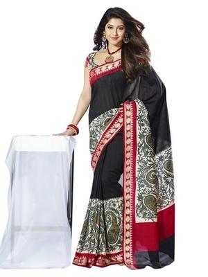 Triveni Startling Paisely Motif Bhagalpuri Silk Traditional Saree TSVF10030