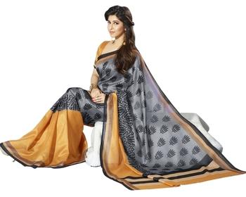 Triveni Classy Lotus Inspired Bhagalpuri Silk Indian Traditional Saree TSVF10051