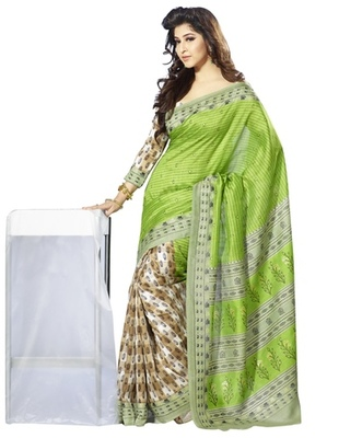 Triveni Amiable Floral Printed Bhagalpuri Silk Traditional Saree TSVF10053