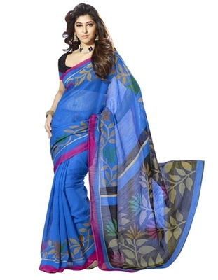 Triveni Glorious Vine Motif Bhagalpuri Silk Indian Traditional Saree TSVF10056