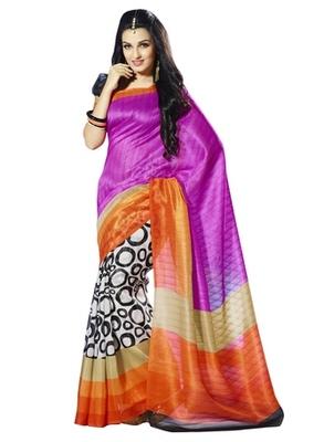 Triveni Admirable Polka Dots Motif Bhagalpuri Indian Traditional Saree TSVF10058