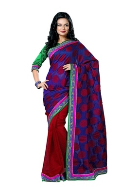 Triveni Appreciable Dual Colored Border Worked Saree TSN6015