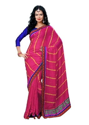 Triveni Elite Lining Patterned Border Worked Saree TSN6020