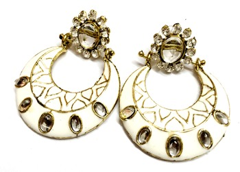 Craftstages White stylish Earrings