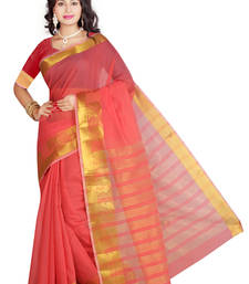 Buy Red maheshwari saree with blouse maheshwari-saree online