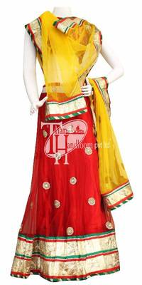 Royal red beautiful kundan heavy work designer lehenga