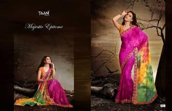 BHUWL FASHION print cifon sarees with crape blouse