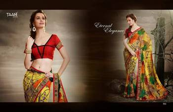 BHUWAL FASHION GEORGET PRINT DESIGNER SAREES   WITH GEORGET UNSTICHED BLOUSE BFTN905
