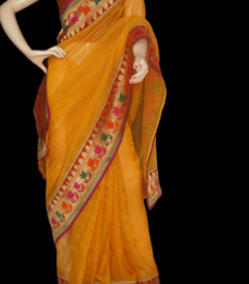 Buy yellow with red kota-silk-saree online