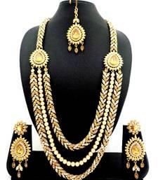 Indian Bollywood White Kundan Pearl Gold Tone Wedding Bridal Jewelry Set 9 Pcs Up-To-Date Styling Bridal & Wedding Party Jewelry Jewelry & Watches