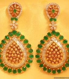 Antique Diamond Look Greenonyx Danglers