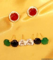 Buy Solitaire Look Changeable Stone Earrings stud online