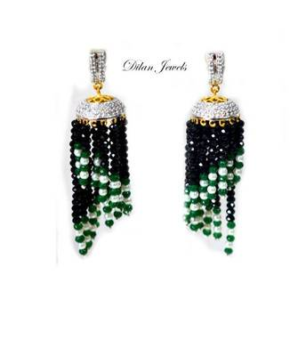 Diamond Black Jhumka
