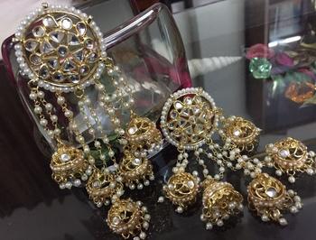 Kundan Real Look Gold Foil  Big Danglers
