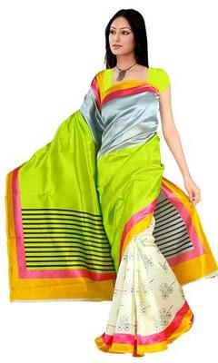 famous art silk sarees with blowse