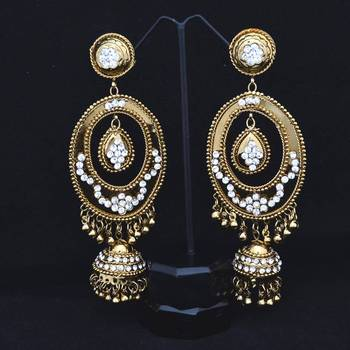 Co-operish Gold Oval Light Weight Danglers