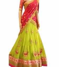Buy perrot green embroidered georgette unstitched navratri-lehenga-chaniya-choli navratri-lehenga-chaniya-choli online