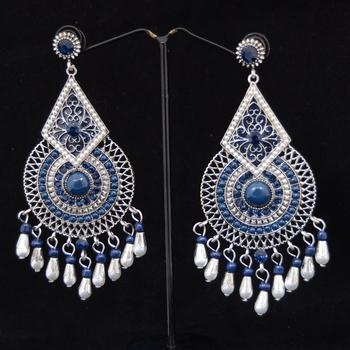 Diamond Shaped Blue Dangler