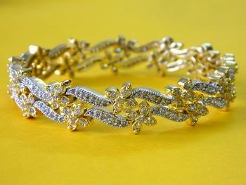 High Quality Silver flower Bracelet Bangles