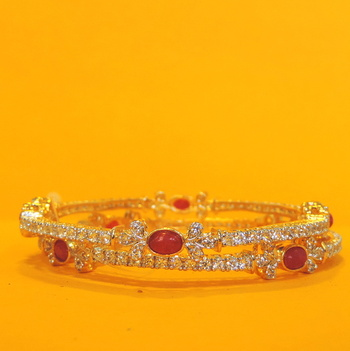 High Quality Red&silver Bracelet Bangles