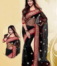 Buy Stylish Black Net Party Wear Saree women-ethnic-wear online