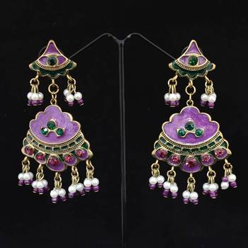 Purple Fashion Danglers