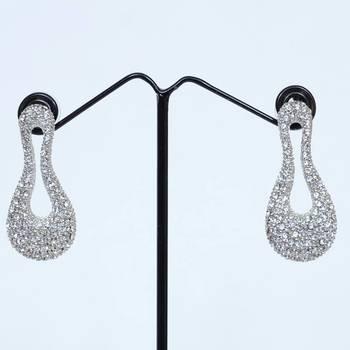 Silver Eight Shaped Earrings