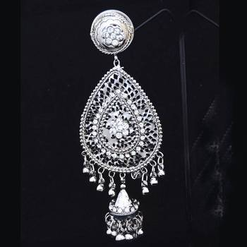 Silver Leaf Shaped Fashion Danglers