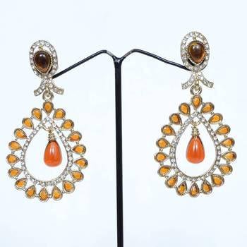 Sun Effect Drop Shaped Fashion Danglers