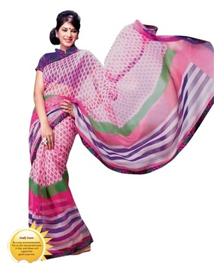 Triveni Fanciful Leafs Printed Casual Wear Indian Designer Saree TSVF9717
