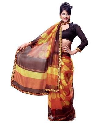 Triveni Amusing Polka Dots Inspired Printed Indian Designer Saree TSVF9732