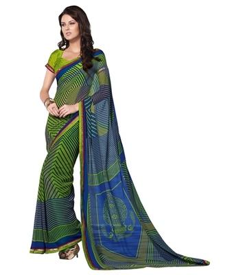 Triveni Sophisticated Geometrical Patterned Indian Ethnic Designed Saree TSVF9930