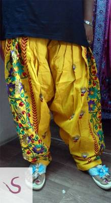 ochre yellow  patiyala salwar dupatta set