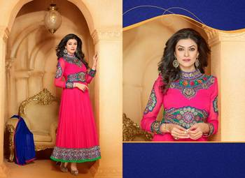 SHUSHMITA SEN BOLLYWOOD DESIGNER ANARKALI SALVAR SUIT