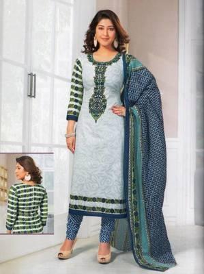 Dress material cotton designer prints unstitched salwar kameez suit d.no SG403