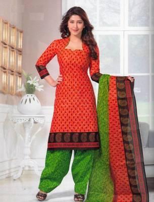 Dress material cotton designer prints unstitched salwar kameez suit d.no SG405