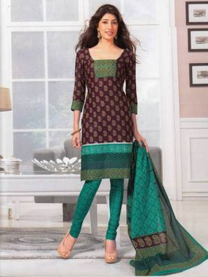 Dress material cotton designer prints unstitched salwar kameez suit d.no SG418