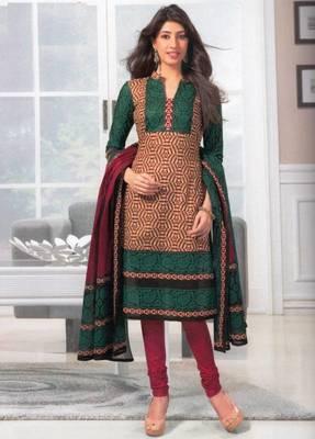 Dress material cotton designer prints unstitched salwar kameez suit d.no SG429
