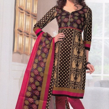 Dress material cotton designer prints unstitched salwar kameez suit d.no SG432