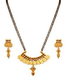 Buy JFL - Traditional Ethnic Temple Goddess Laxmi Coin One Gram Gold Plated Mangalsutra  mangalsutra online