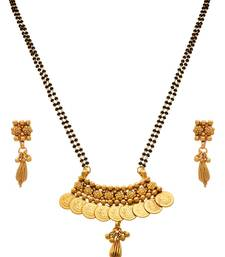 Buy JFL - Traditional Temple Ethnic One Gram Gold Plated Goddess Laxmi Coin Mangalsutra  mangalsutra online