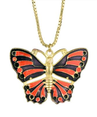 Beautiful Red & Black butterfly Fashion Necklace