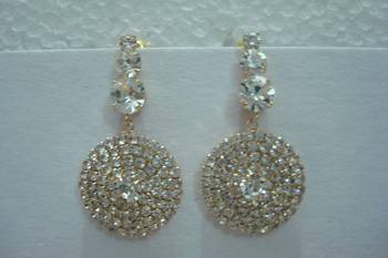 American Diamond Circle Earrings. An ideal valentine gift from Muhenera collection. 5751ca