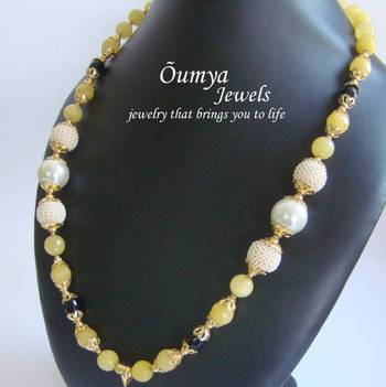 Light Yellow Semiprecious Mala
