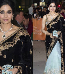 Sridevi half half bollywood saree