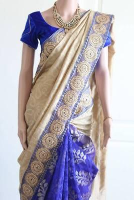 Blue Patola Patli Pallu Saree
