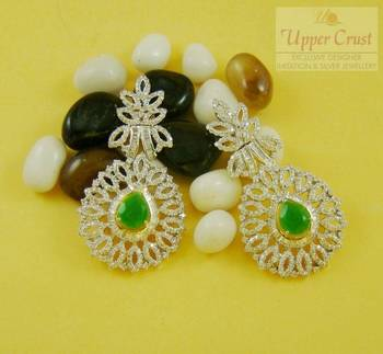 Elegant Designer Cubic Zircone Dangler Earrings