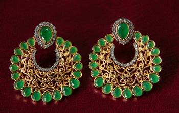 Green Filigree Earrings